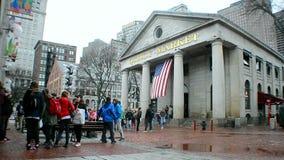 Рынок Quincy в городском Бостоне, США, видеоматериал