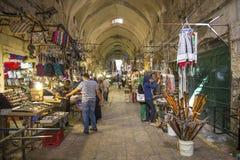 Рынок Souk в городке Израиле Иерусалима старом стоковое изображение rf
