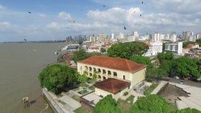 Рынок Ver-o-песо вида с воздуха в Belem делает город Para - Бразилию Ноябрь 2016 видеоматериал