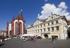 Рынок Wurzburg, Германия стоковое изображение
