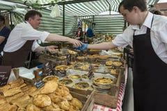рынок yorkshire malton Англии дня Стоковое Фото