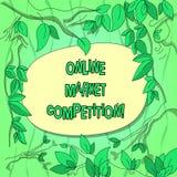 Рыночная конкуренция текста почерка онлайн Концепция знача соперничество между компаниями продавая такие же разбросанные ветви де иллюстрация штока