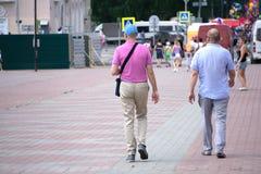 Рыночная площадь во времени дня, образе жизни западных 2 людей стоковые изображения