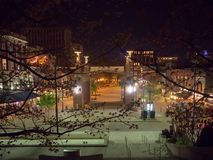 Рыночная площадь, Ноксвилл, Теннесси, Соединенные Штаты Америки: [Ночная жизнь в центре Ноксвилла] стоковое фото