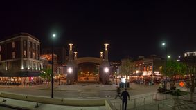 Рыночная площадь, Ноксвилл, Теннесси, Соединенные Штаты Америки: [Ночная жизнь в центре Ноксвилла] стоковые фото
