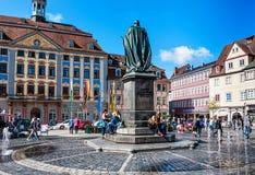 Рыночная площадь в Кобурге, Германии Стоковое Фото