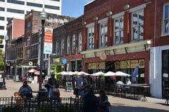 Рыночная площадь в Ноксвилле, Теннесси стоковые фотографии rf