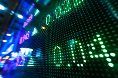 Рыночная цена фондовой биржи на дисплее Стоковая Фотография RF