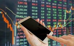 Рыночная цена фондовой биржи стоковые фото