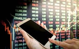 Рыночная цена фондовой биржи стоковое изображение