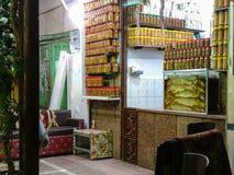 Рыночное месте в городе Египте Луксора, некотором неизвестном неупотребительном wa Стоковые Фото