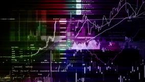 Рыночные индексы фондовой биржи двигают в виртуальный космос Экономический рост, рецессия сток-видео
