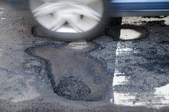 рытвина автомобиля Стоковая Фотография