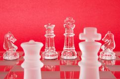 Рыцари короля ферзя шахмат стоковое фото rf