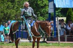 Рыцарь биться на фестивале ренессанса стоковое изображение rf