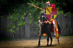 Рыцарь биться на фестивале ренессанса стоковое фото rf
