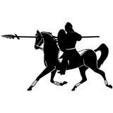 Рыцарь верхом Стоковые Фотографии RF