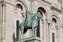 Рыцарь в Sacre Coeur, Montmarte, Париже Стоковые Изображения