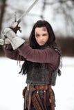 Рыцарь дамы стоковое фото rf