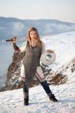 Рыцарь девушки стоковое изображение rf