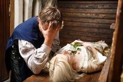 Рыцарь и его спящая красавица Стоковая Фотография RF