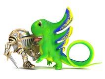 Рыцарь и дракон Стоковая Фотография