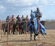 рыцарь лошади панцыря тяжелый Стоковые Фотографии RF