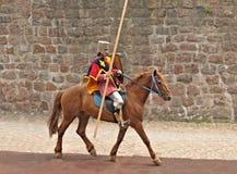 рыцарь лошади панцыря Стоковые Изображения