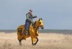 рыцарь лошади поля Стоковые Изображения