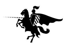 рыцарь лошади Стоковое Изображение RF