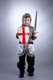 рыцарь мальчика Стоковое Фото