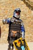 Рыцарь на историческом фестивале в твердыне Sudak Стоковые Изображения