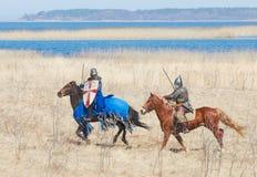 Рыцарь лошади в панцыре Стоковые Фото