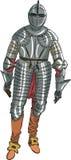 Рыцарь панцыря вектора средневековый Стоковое Изображение RF
