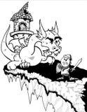 Рыцарь против Дракон Стоковые Фотографии RF