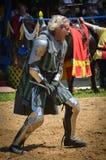 Рыцарь соперничающий на фестивале ренессанса стоковая фотография rf
