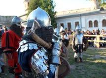 Рыцарь с осью Стоковые Изображения RF