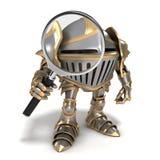Рыцарь с лупой Стоковая Фотография RF