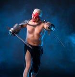 Рыцарь с шпагой Стоковое Изображение