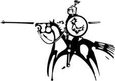 Рыцарь с экраном петуха бесплатная иллюстрация