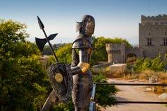 рыцарь утюга стоковое изображение