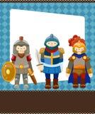 рыцарь шаржа карточки Стоковое Изображение RF
