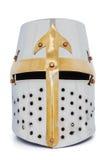 рыцарь шлема средневековый стоковые изображения