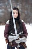 Рыцарь дамы Стоковое Фото