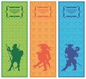 рыцарь bookmarks знамен Стоковые Фото