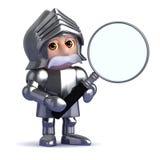 рыцарь 3d увеличивает Стоковые Фото