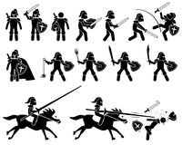 Рыцарь templar от войны средневековых и средних возрастов иллюстрация штока