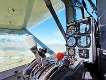 Рычаги управления в кабине летчика & аппаратуры Стоковое Изображение RF