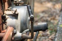 Рычаг старта двигателя ноги винтажного японского мотоцикла стоковое фото