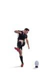 рэгби игрока шарика пиная Стоковое Изображение RF